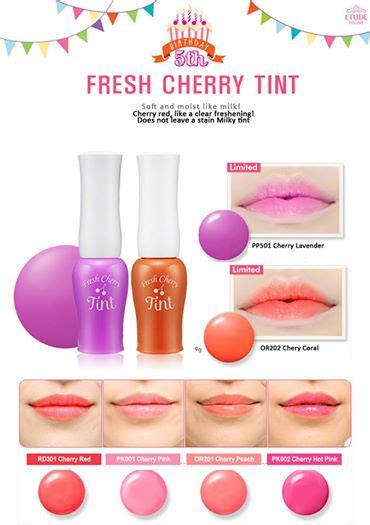 Diskon Etude House Fresh Cherry Tint review fresh cherry tint của etude house ld