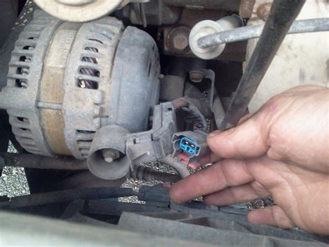 2005 dodge grand caravan alternator how do you remove the wires from a 2005 dodge grand