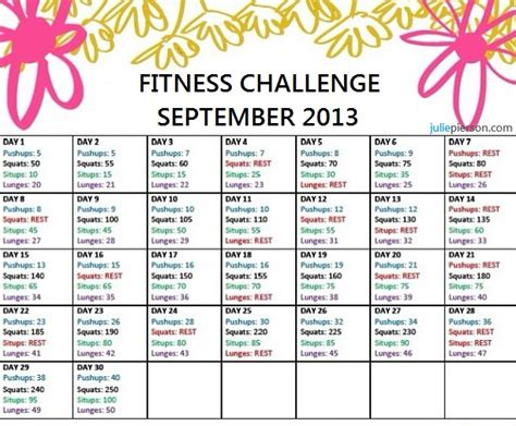 fitness challenge exercises exercise weight loss challenge