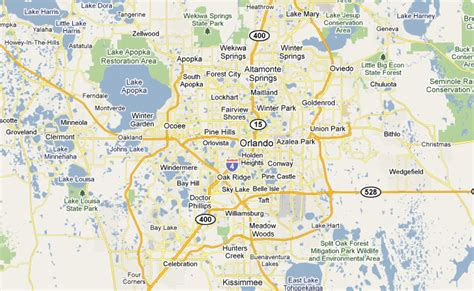central florida map with cities central florida links