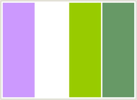 colors that go with green colorcombo77 with hex colors cc99ff ffffff 99cc00 669966