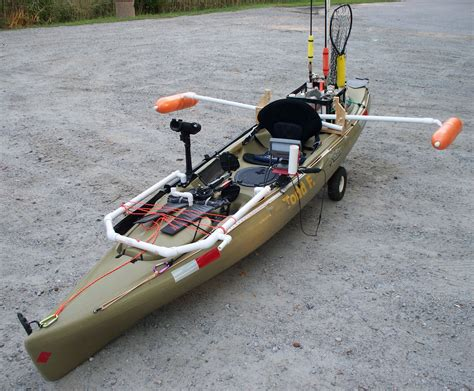 canoe pontoons yakattack sprout contest kayak leaning post by todd