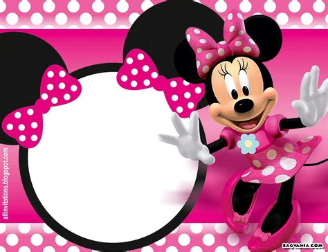 minnie mouse birthday template minnie mouse birthday invitation template listmachinepro
