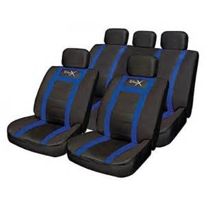 Car Seat Covers For Sports Streetwize Leather Look Sports Style Car Seat Cover Set