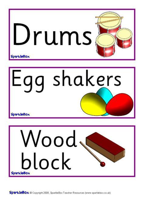 musical instrument labels sb sparklebox