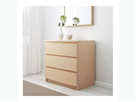 malm 2 drawer chest birch 2x ikea malm chest of drawers birch veneer victoria city