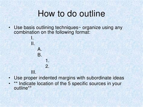 how to do a research paper outline of research paper