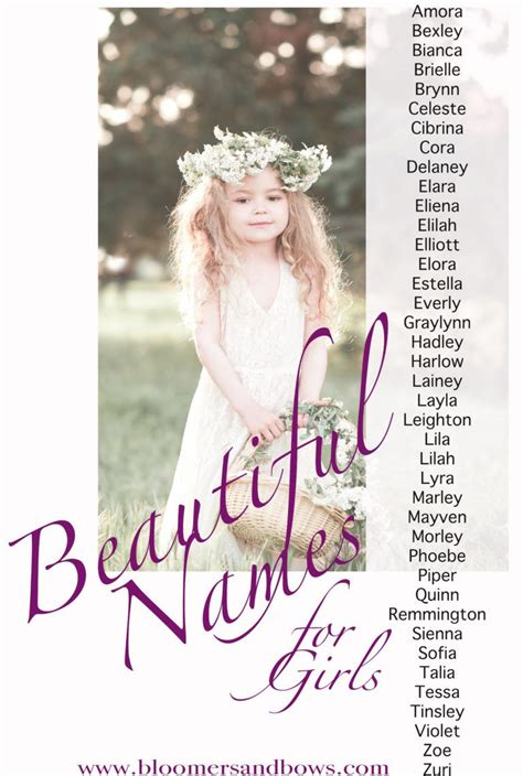 beautiful names for a girl amora bexley bianca brielle