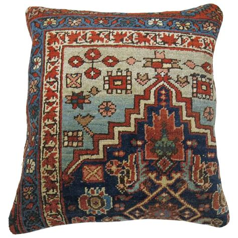 pillows made from rugs antique bidjar rug pillow for sale at 1stdibs