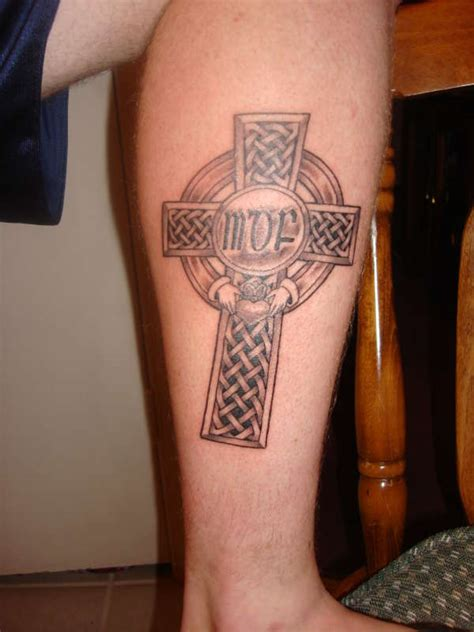 brother tribal tattoos celtic cross for my