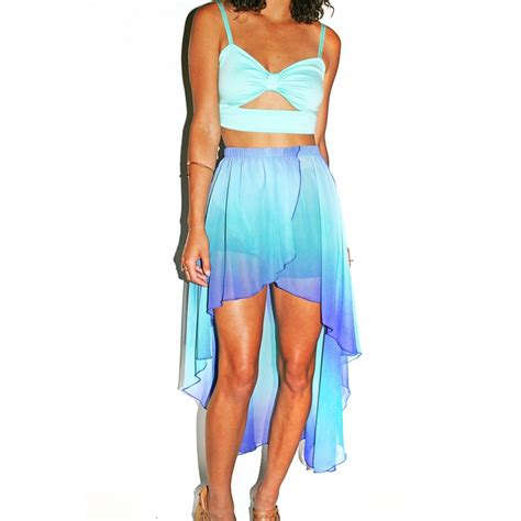 pastel ombre high low skirt my style