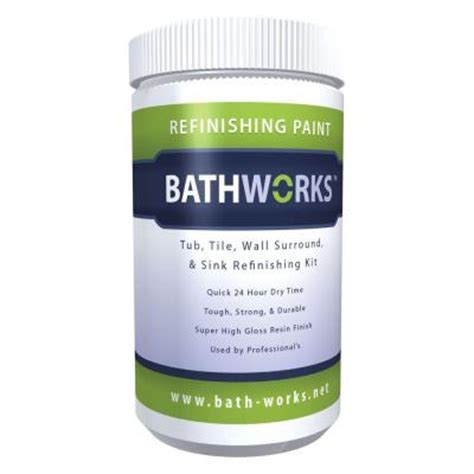 bathtub refinishing products home depot bathworks 20 oz diy bathtub and tile refinishing kit
