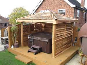 tub enclosures square cedar gazebos tub garden