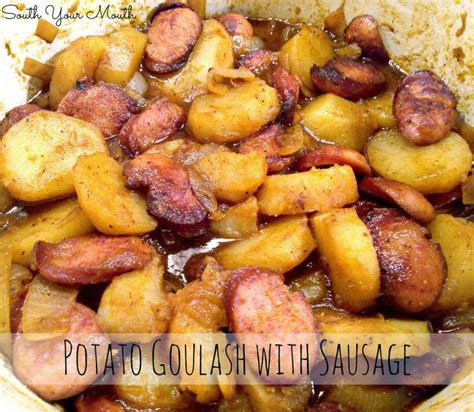 Red Potato Main Dish Recipes - potato goulash with sausage mouths sweet and italian