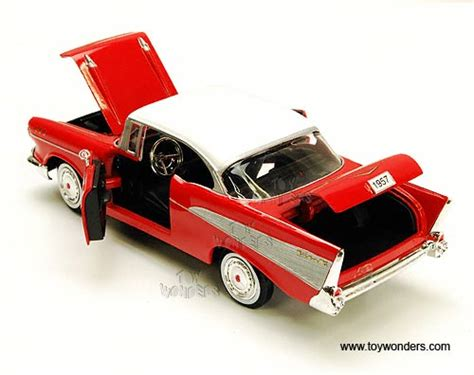 Motormax 1957 Chevy Bel Air Skala 124 Hijau 1957 chevy bel air top showcasts collectibles 1 24 scale diecast model car wholesale 73228 16d
