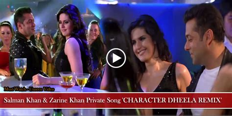 html tutorial khan salman khan zarine khan private song character dheela
