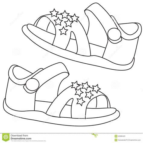 clipart da colorare sandals coloring page stock illustration image 52086423
