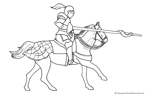 Free Coloring Pages Of Black Knight On Horseback Knights Colouring Pages