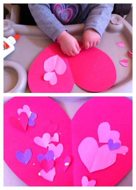 Construction Paper Valentines Day Crafts - crafts for toddlers contact paper and