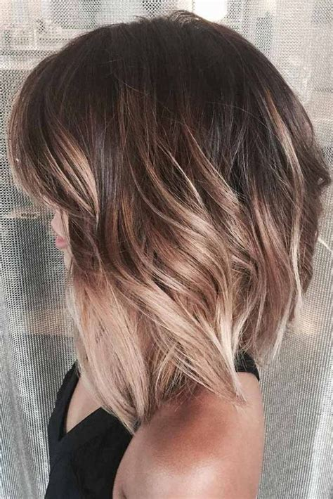 ombre colored hair cut in a line bob 15 chic ombre short hair ideas styleoholic
