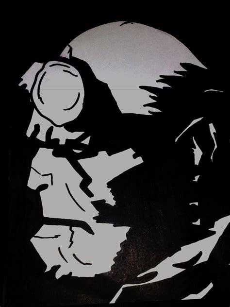 Kaos Hellboy White 1 hellboy black and white by ali47 on deviantart