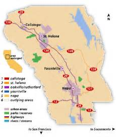 where is napa valley california on a map of a wine o wine region napa valley