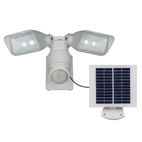 solar flood lights lowes shop utilitech pro 180 degree 2 white solar powered