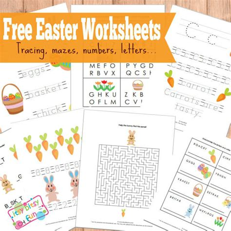 Free Easter Worksheets by Easter Free 20 Pages Of Easter Themed Worksheets Free