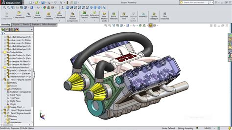 tutorial solidworks motor solidworks tutorial car engine advanced assembly youtube
