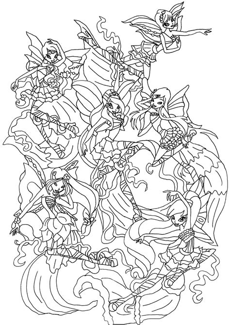 Winx Club Bloom Harmonix Coloring Pages winx harmonix by elfkena on deviantart