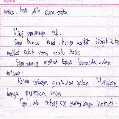 Surat Undangan Ulang Tahun Paling Singkat Dalam Bahasa Indonesia by Contoh Surat Cinta Sederhana Untuk Mos Info Mayata