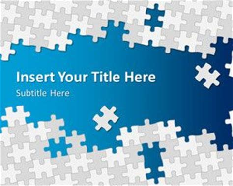 free puzzle pieces powerpoint template free powerpoint