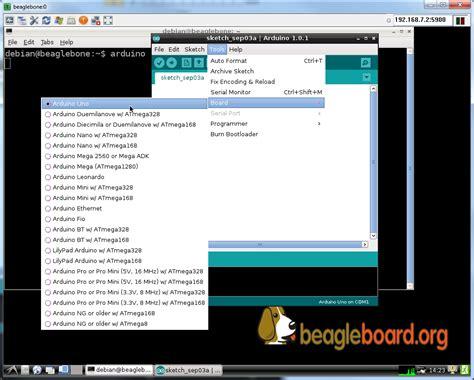 tutorial arduino ide tutorial running the arduino ide on the beaglebone black
