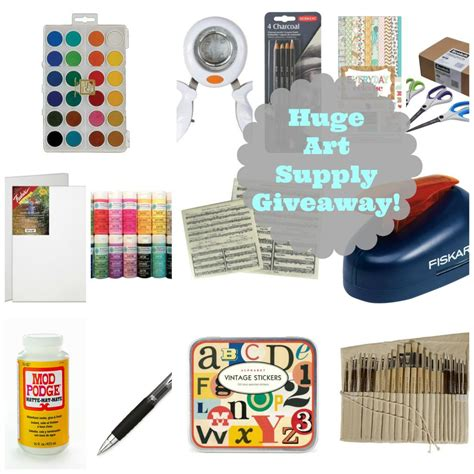 Art Supplies Giveaway - summer art c for kids and a huge art supply giveaway jeanne oliver