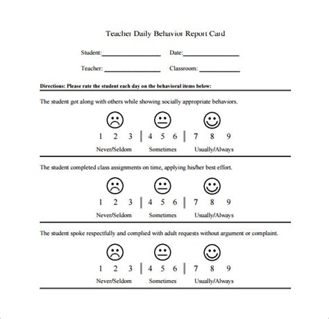 Behavior Chart Template 12 Free Sle Exle Format Download Free Premium Templates Student Behavior Log Template Pdf