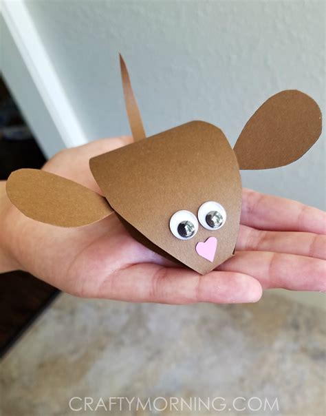 Mouse Paper Craft - 3d paper mouse craft for crafty morning