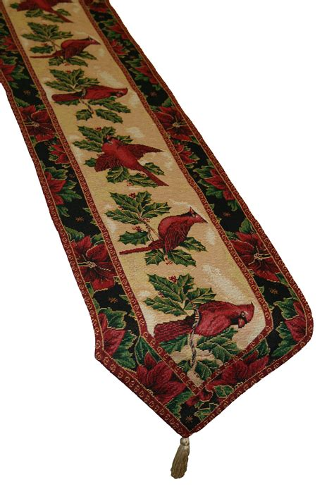 google christmas tree shop kitchen table runners not xmas poinsettia design 13 quot x 70 quot table runner ebay