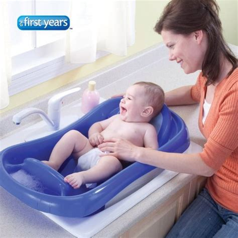 the first years bathtub the first years infant to toddler tub with sling blue