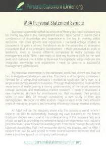 Successful Mba Essays Pdf by Personal Statement Exles
