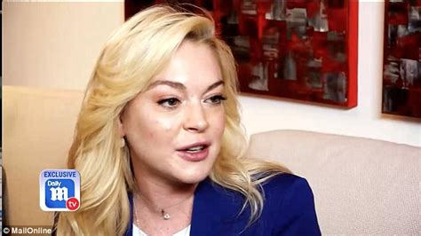 Has Lindsay Far lindsay lohan talks to dailymailtv about being happy