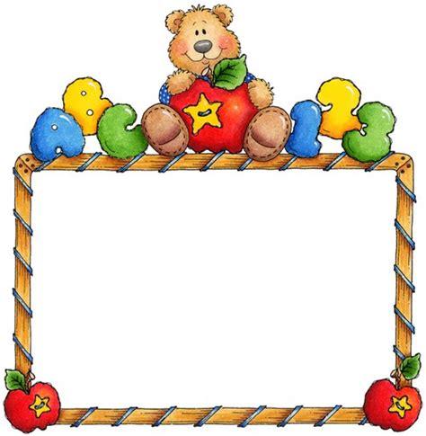 imagenes escolares coloridas bordes y cuadros infantiles imagui