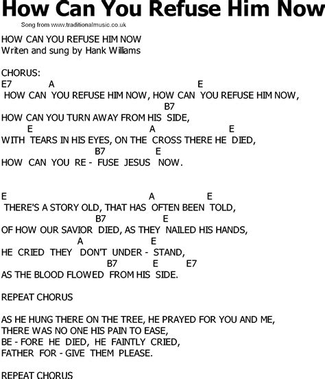 song for him country song lyrics with chords how can you refuse