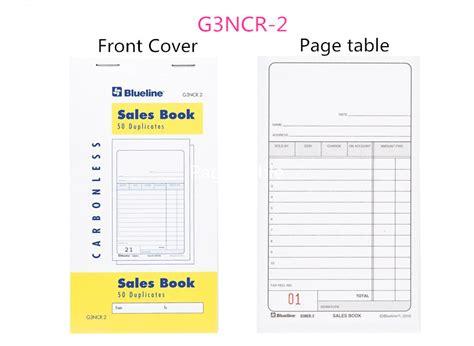 book layout sles blueline 174 sales book 50 duplicates carbonless copy