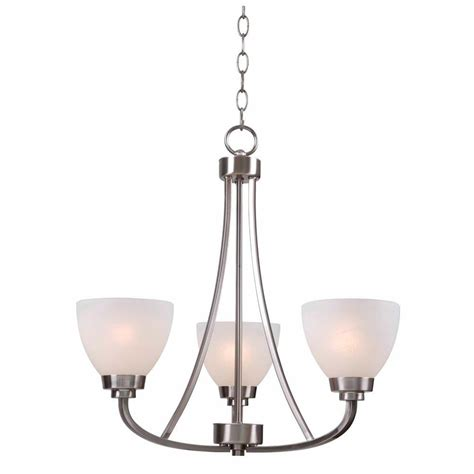 1000 images about chandeliers on hton bay hastings 3 light brushed steel chandelier