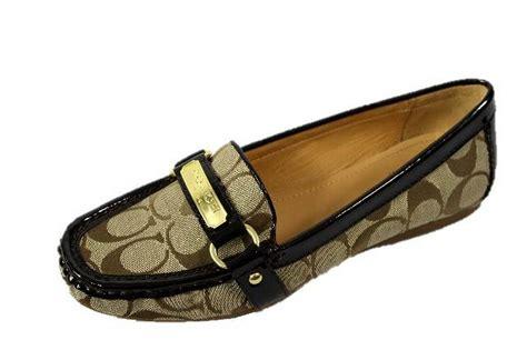 coach felisha loafer coach felisha signature c logo khaki womens loafer shoes