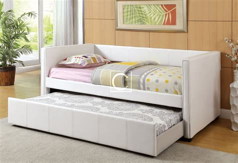 day bed trundle modern winslow white white daybed with trundle