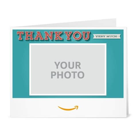 How Much Is On My Amazon Gift Card - upload your photo thank you very much printable amazon co uk gift voucher amazon