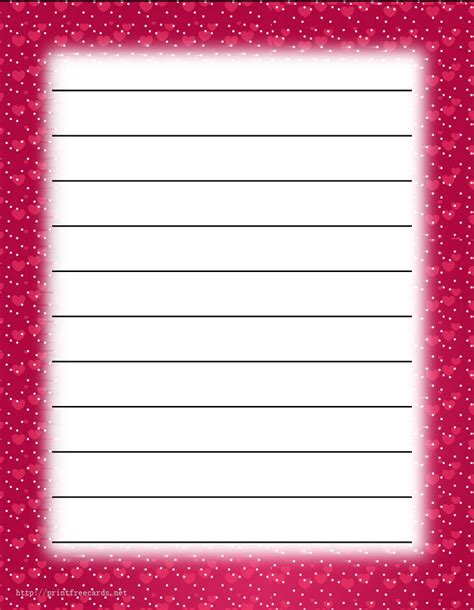 printable writing paper with lines and border 6 best images of pretty border lined paper printable