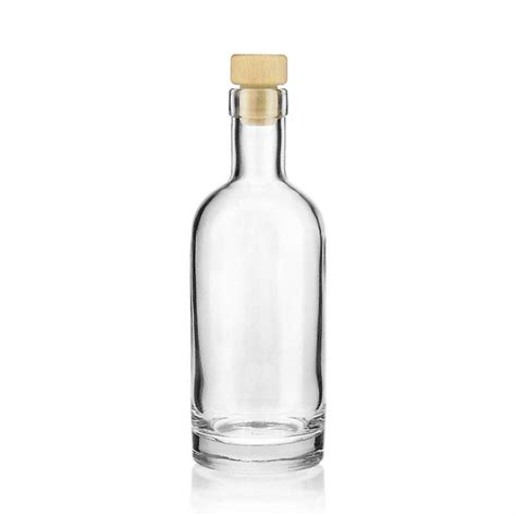 350ml clear glass bottle quot linea uno quot world of bottles co uk