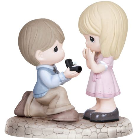 Precious Moments 521701 Boys Club engagement gifts will you me bisque porcelain